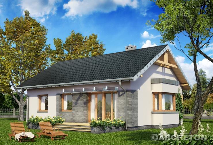 Projekt domu Alida - dom z nieużytkowym poddaszem, idealny dla czterosobowej rodziny