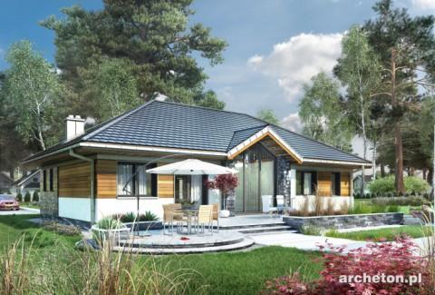 Projekt domu Allegro - dom z przeszklonym ogrodem zimowym