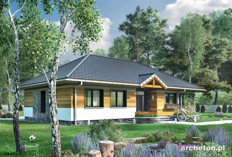 Projekt domu Allegro - dom parterowy, z przeszklonym ogrodem zimowym