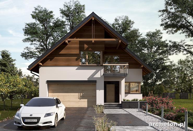 Projekt domu Alodia - nowoczesny dom pokryty dachem dwuspadowym, z wejściem od ściany szczytowej