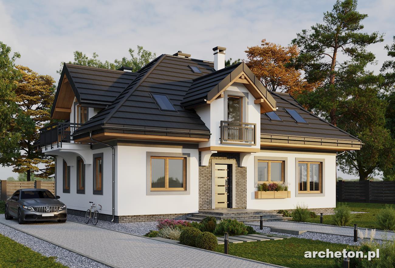 Оригинальный проект светлого мансардного коттеджа дом4м в бе.
