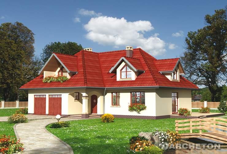 Projekt domu Amber - dom na rzucie litery L, z malowniczymi lukarnami