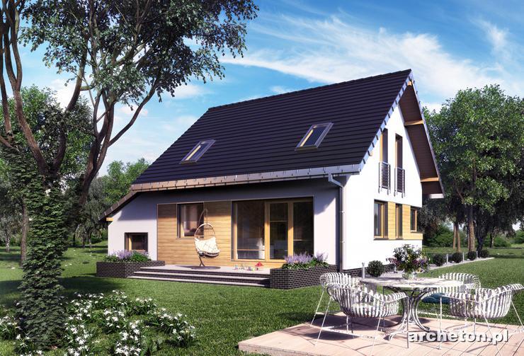 Projekt domu Amelia Nano - dom z użytkowym poddaszem, do 100 m2 powierzchni użytkowej