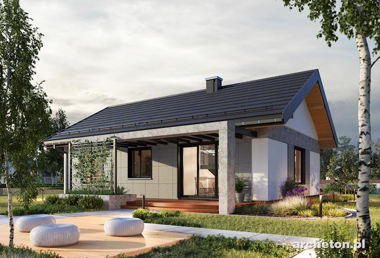 Projekt domu Anita - niewielki domek parterowy, dla 4 osobowej rodziny