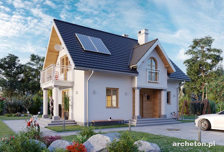 Projekt domu Antałek - mały dom z użytkowym poddaszem, idealny na wąską działkę