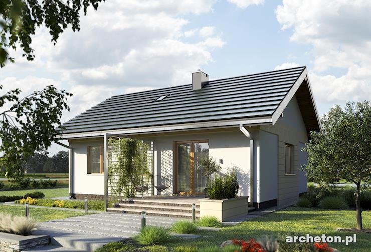 Projekt domu Antek - dom parterowy, z dwoma pokojami, idealny dla 3 osobowej rodziny