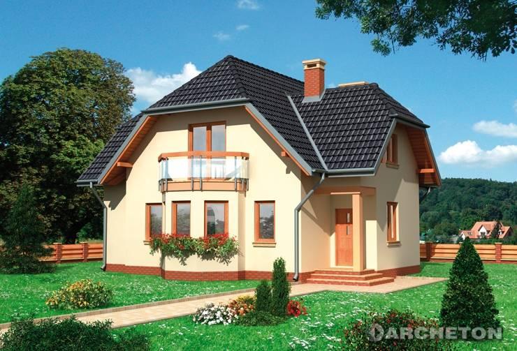Projekt domu Antracyt - dom nakryty dachem dwuspadowym z naczółkami