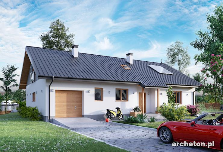 Projekt domu Aramis - dom z możliwością adaptacji w drugim etapie budowy