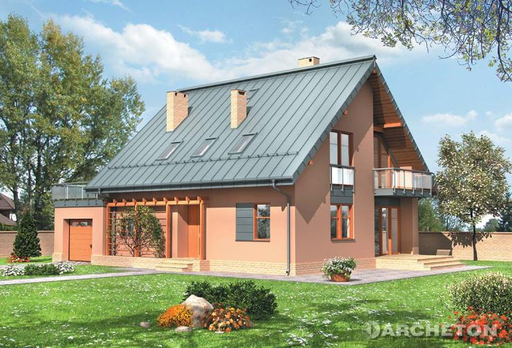Projekt domu Argon - dom z cynkowo-tytanowymi profilami elewacyjnymi