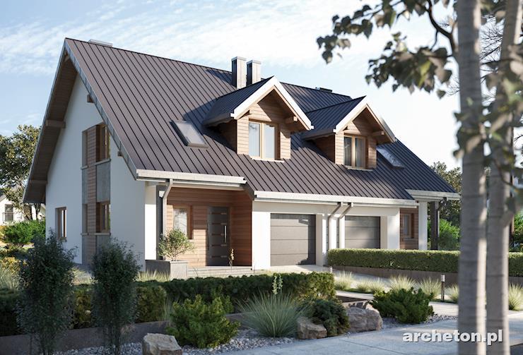 Projekt domu Ariel Duo - atrakcyjny projekt domu do zabudowy bliźniaczej, z garażem