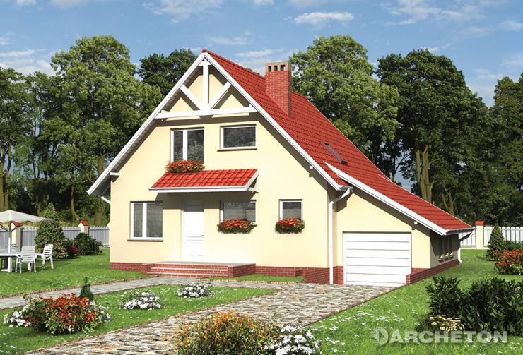 Projekt domu Aster-2 - nieduży dom parterowy z ogrzewaniem na olej