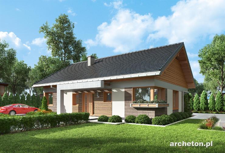 Projekt domu Asteria - prosty i nowoczesny dom parterowy, bez garażu