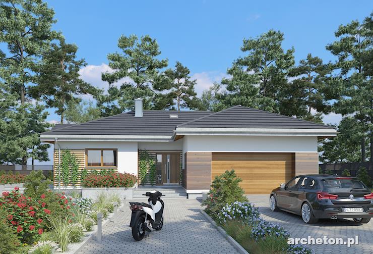 Projekt domu Aurelia Rex - funkcjonalny dom parterowy z garażem na dwa samochody