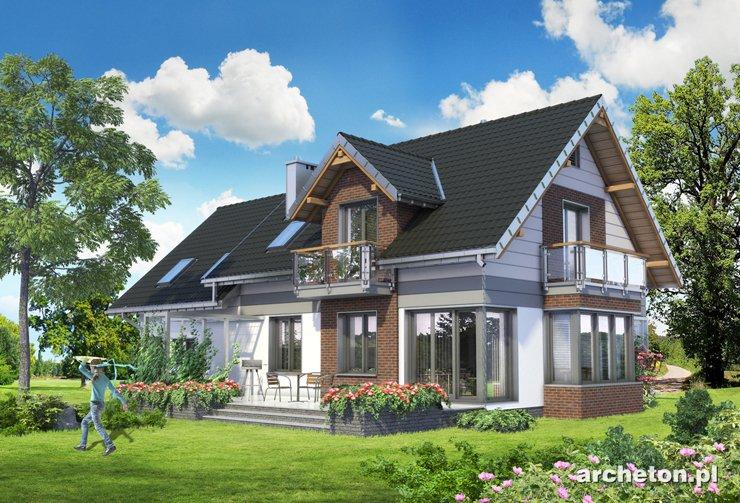 Projekt domu Axel Atu - nowoczesny i funkcjonalny dom z garażem dwustanowiskowym