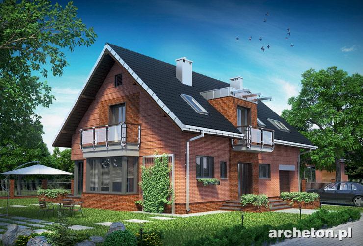 Projekt domu Axel Ceramik - dom z nowoczesnymi detalami architektonicznymi