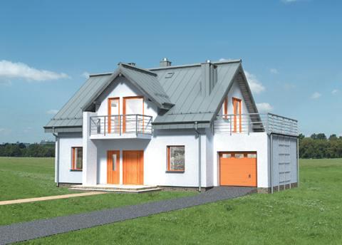 Projekt domu Azuryt