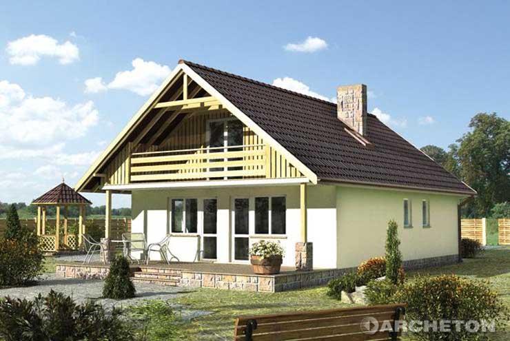 Projekt domu Baba Jaga-2 - drewniany dom o prostej formie i konstruckji