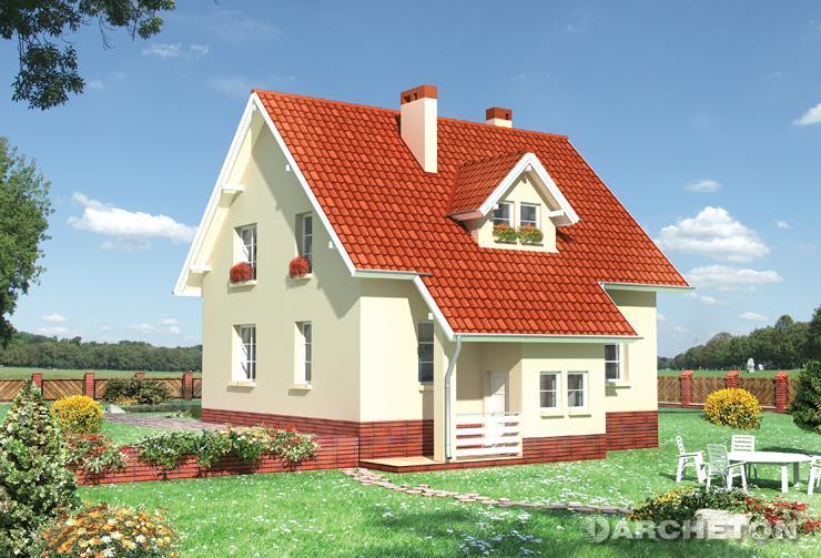 Projekt domu Babie Lato - nieduży dom na rzucie zbliżonym do kwadratu