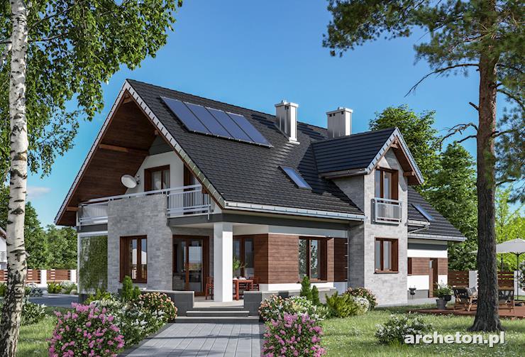 Projekt domu Baltazar Solis - mała rezydencja o nowoczesnych detalach i przestronnym wnętrzu
