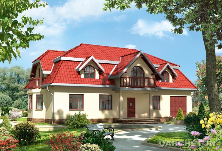 Projekt domu Barkentyna - dom z przestronnym pokojem dziennym połączonym z jadalnią