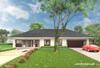 Projekt domu Berenika - dom parterowy, z 5 pokojami, pokryty dachem czterospadowym
