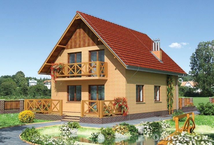 Projekt domu Biedronka - nieduży dom idealny na wąską działkę