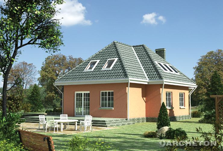 Projekt domu Bóbr - dom z dużym przestronnym pokojem dziennym połączonym z jadalnią