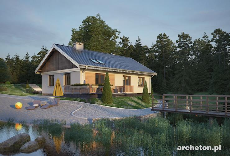 Projekt domu Bolek - dom parterowy posiadający dużą kotłownię, z osobnym wejściem