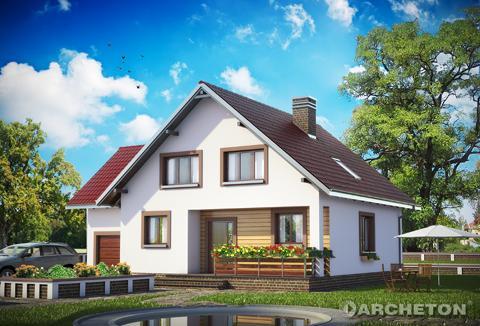 Projekt domu Borówka - dom z charakterem, pełen wdzięku, dla 6 osobowej rodziny