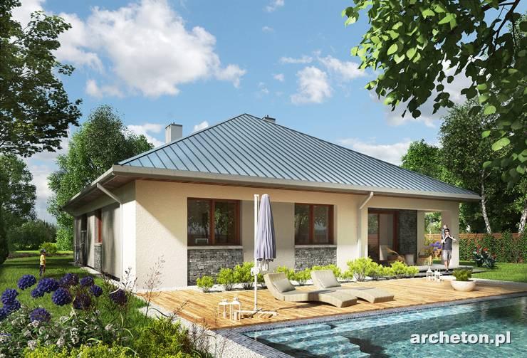 Projekt domu Bratek - niewielki i atrakcyjny dom parterowy, z garażem