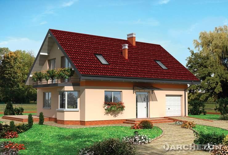 Projekt domu Bromba - przestronny i funkcjonalny dom, o prostej bryle, z piwnicą