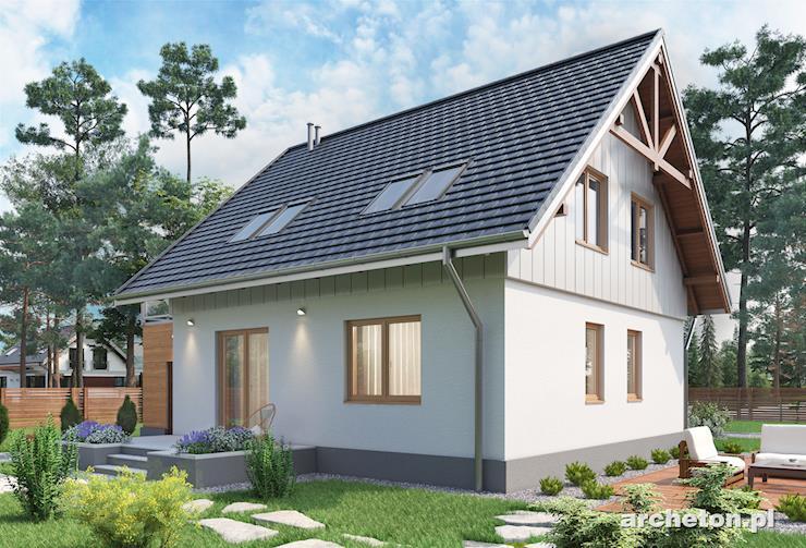 Projekt domu Brzask - nieduży,  dom z malowniczym tarasem nad garażem