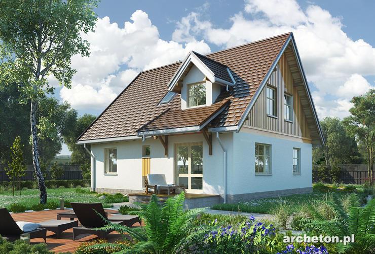 Projekt domu Brzoza - zgrabny domek, z pomieszczeniem gospodarczym w piwnicy