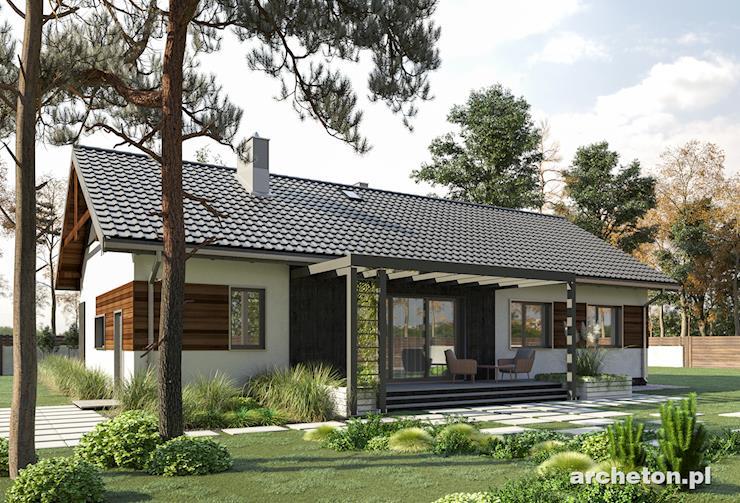 Projekt domu Bytomir - funkcjonalny dom parterowy pokryty dachem dwuspadowym