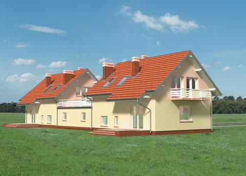 Projekt domu Calineczka-2 Duo