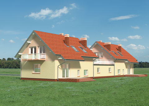 Проект домa Лещина - 2 Дуо