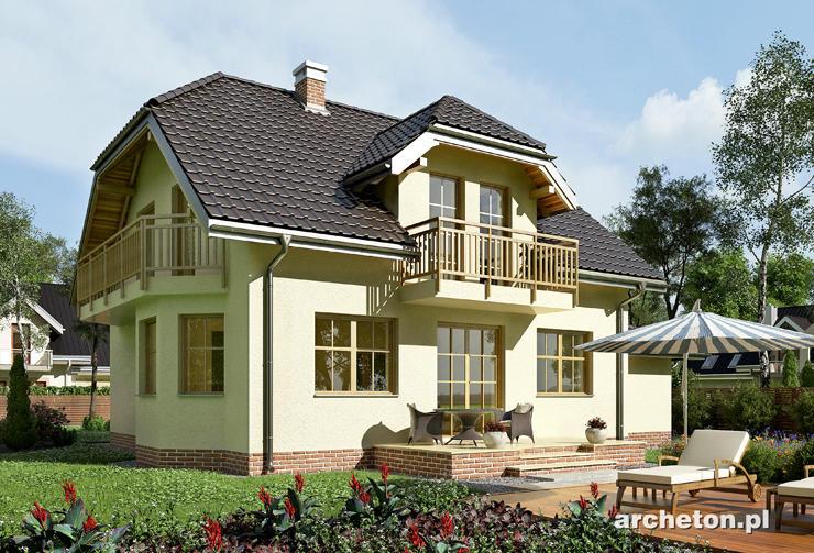 Projekt domu Celesta - nieduży dom z wykuszem pokoju dziennego