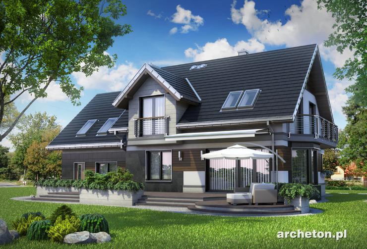 Projekt domu Celesta Hera G2 - mała rezydencja w nowoczesnym stylu, z pokojem hobby na poddaszu