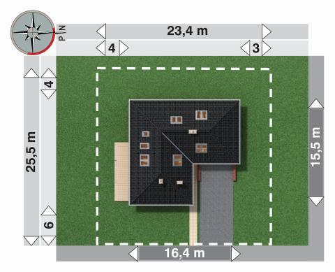 Projekt domu Cetyniec Max