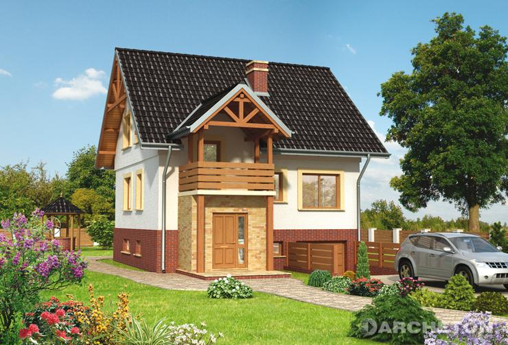 Projekt domu Cis - malowniczy dom wzbogacony gankiem i tarasem
