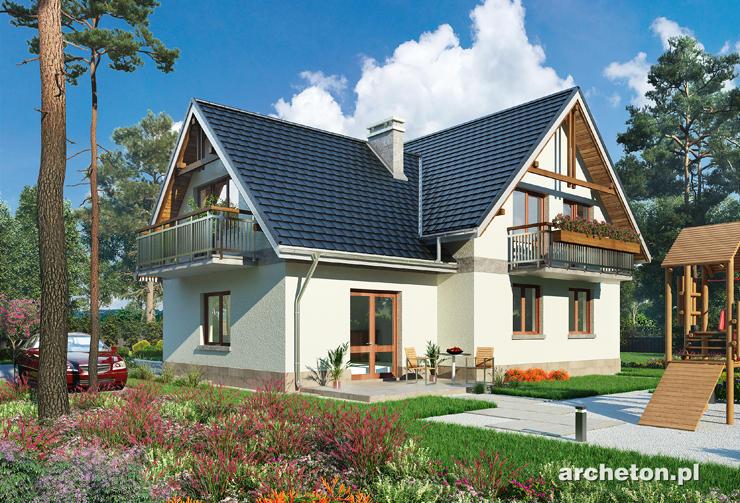 Projekt domu Cykada - duży dom na planie w kształcie litery T