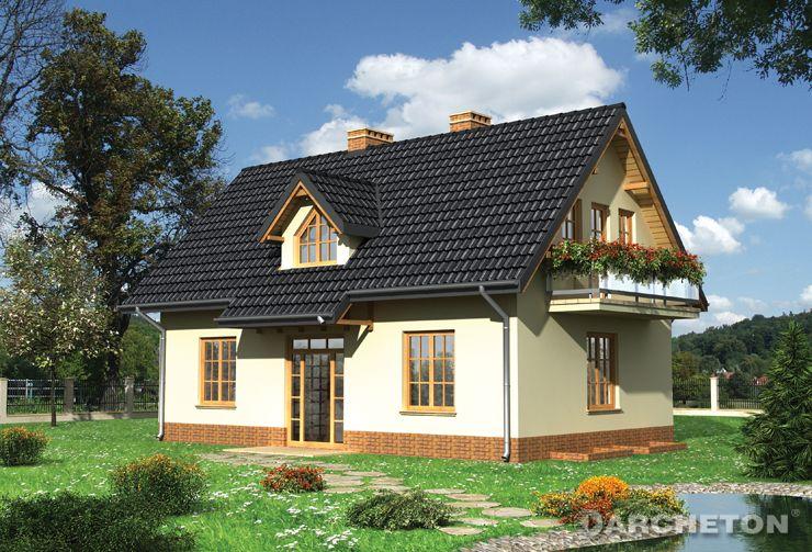 Projekt domu Cymes - dom z częścią handlowo-usługową na parterze