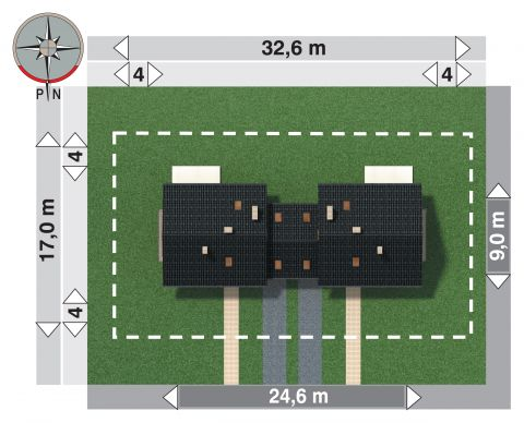 Projekt domu Czaruś Duolit