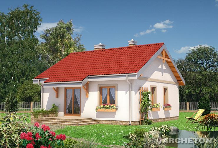 Projekt domu Czyżyk - dom parterowy bez podpiwniczenia ze strefą dzienną i nocną