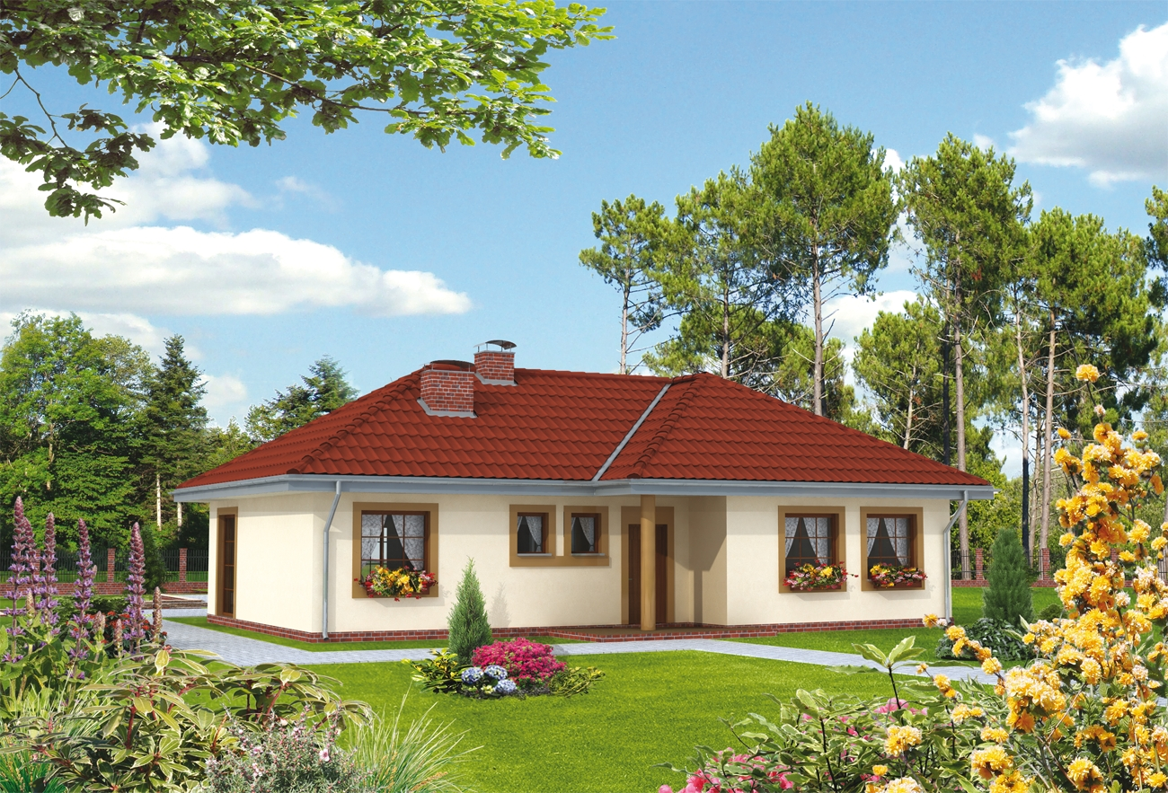 Projekt domu daniela dom parterowy z obszernymi for Case di legno in romania