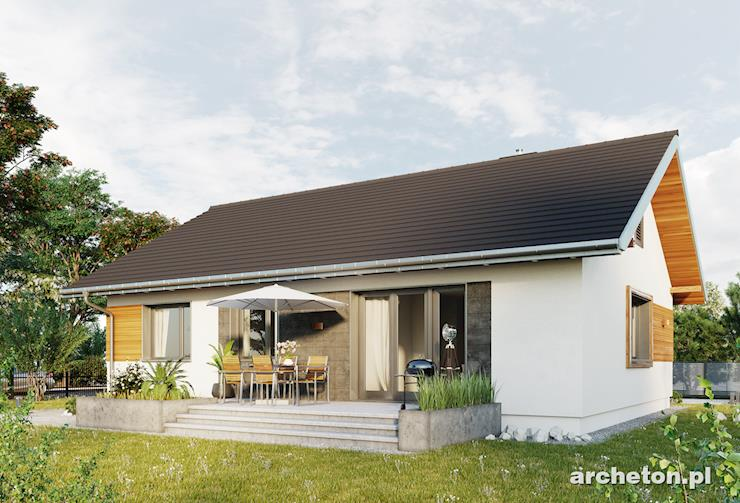 Projekt domu Domino Rex - nowoczesny dom parterowy z 3 sypialniami i obszernym salonem
