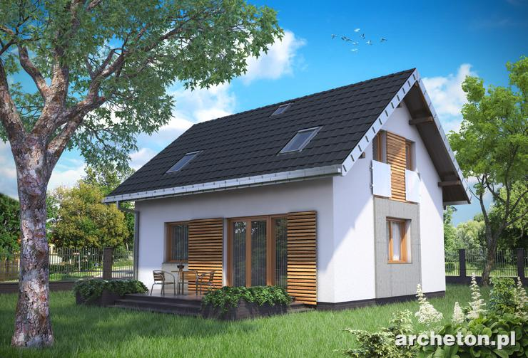 Projekt domu Drops - propozycja małego i prostego w budowie domu