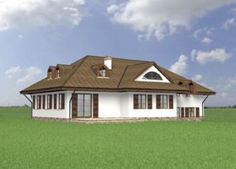 Projekt domu Dworek