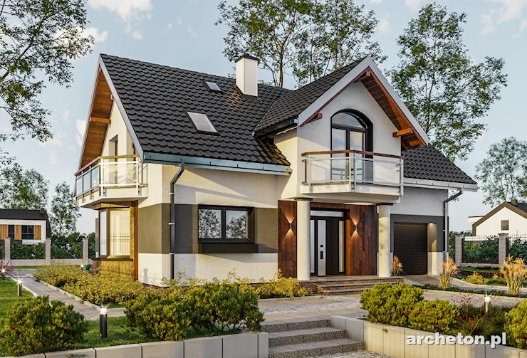 Projekt domu Dymsza - projekt domu z fukcjonlym i przestronnym wnętrzem