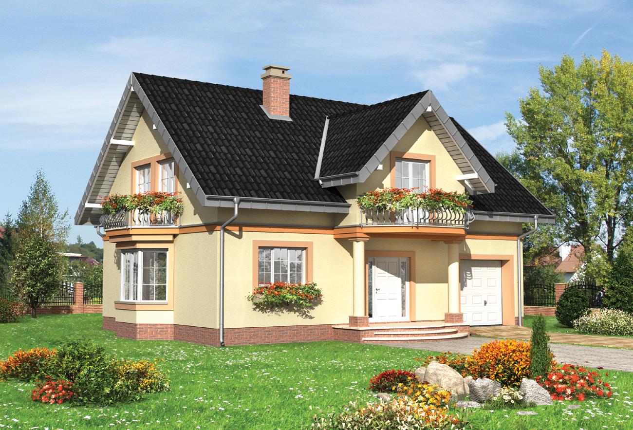 Проект дома с мансардой dymsza rbt master.